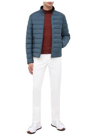 Мужская пуховая куртка LORO PIANA бирюзового цвета, арт. FAL2821 | Фото 2