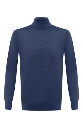 Мужской шерстяная водолазка LORO PIANA синего цвета, арт. FAL3612 | Фото 1