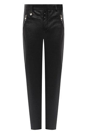 Мужской кожаные брюки ALEXANDER MCQUEEN черного цвета, арт. 626388/Q5LDU | Фото 1