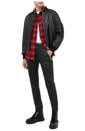 Мужской кожаные брюки ALEXANDER MCQUEEN черного цвета, арт. 626388/Q5LDU | Фото 2