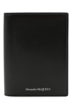 Мужской кожаная обложка для паспорта ALEXANDER MCQUEEN черного цвета, арт. 601692/1XI0Y | Фото 1