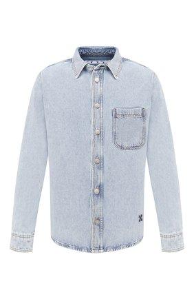 Мужская джинсовая рубашка OFF-WHITE голубого цвета, арт. 0MYD019E20DEN0024010 | Фото 1