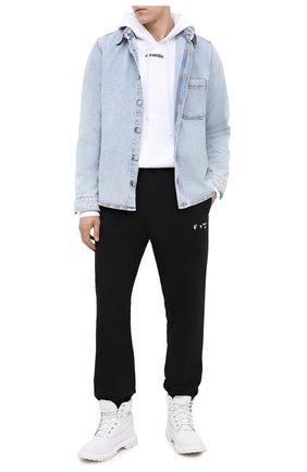 Мужская джинсовая рубашка OFF-WHITE голубого цвета, арт. 0MYD019E20DEN0024010 | Фото 2