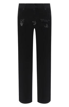 Мужские джинсы OFF-WHITE черного цвета, арт. 0MYA082E20DEN0021001 | Фото 1