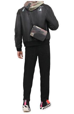 Мужская текстильная сумка OFF-WHITE хаки цвета, арт. 0MNA112E20FAB0026000 | Фото 2