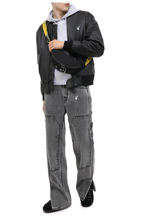 Мужская текстильная поясная сумка OFF-WHITE черного цвета, арт. 0MNA074E20FAB0011001 | Фото 2