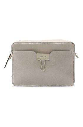 Мужская кожаная сумка OFF-WHITE серого цвета, арт. 0MNA070E20LEA0010500 | Фото 1