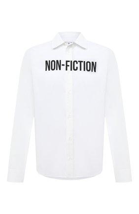 Мужская рубашка OFF-WHITE белого цвета, арт. 0MGA127E20FAB0020110   Фото 1