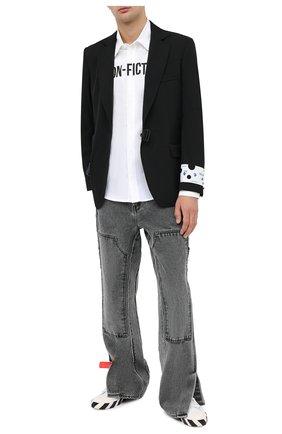 Мужская рубашка OFF-WHITE белого цвета, арт. 0MGA127E20FAB0020110   Фото 2