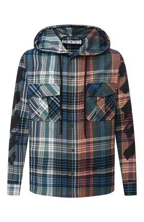 Мужская хлопковая рубашка OFF-WHITE разноцветного цвета, арт. 0MGA125E20FAB0014510 | Фото 1