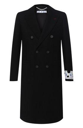 Мужской пальто OFF-WHITE черного цвета, арт. 0MER003E20FAB0011001 | Фото 1