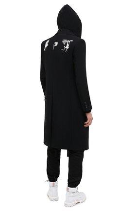 Мужской пальто OFF-WHITE черного цвета, арт. 0MER003E20FAB0011001 | Фото 2