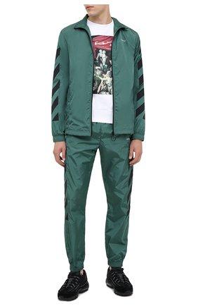 Мужская куртка OFF-WHITE зеленого цвета, арт. 0MEA233E20FAB0025701 | Фото 2
