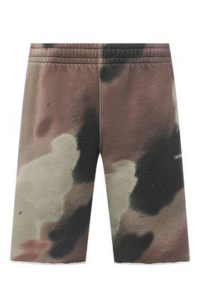 Мужские хлопковые шорты OFF-WHITE хаки цвета, арт. 0MCI006E20FLE0026001 | Фото 1