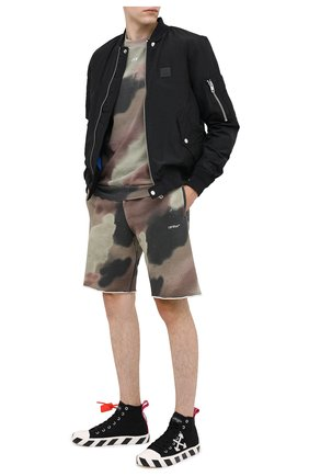 Мужские хлопковые шорты OFF-WHITE хаки цвета, арт. 0MCI006E20FLE0026001 | Фото 2
