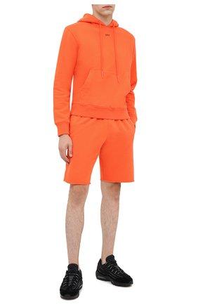 Мужские хлопковые шорты OFF-WHITE оранжевого цвета, арт. 0MCI006E20FLE0012010 | Фото 2