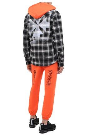 Мужской хлопковые джоггеры OFF-WHITE оранжевого цвета, арт. 0MCH030E20FLE0022010 | Фото 2