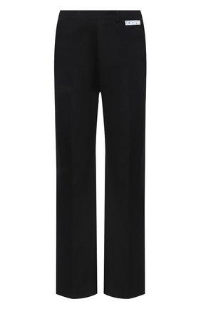 Мужские шерстяные брюки OFF-WHITE черного цвета, арт. 0MCA134E20FAB0011000 | Фото 1