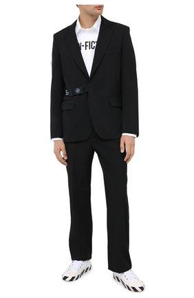 Мужские шерстяные брюки OFF-WHITE черного цвета, арт. 0MCA134E20FAB0011000 | Фото 2