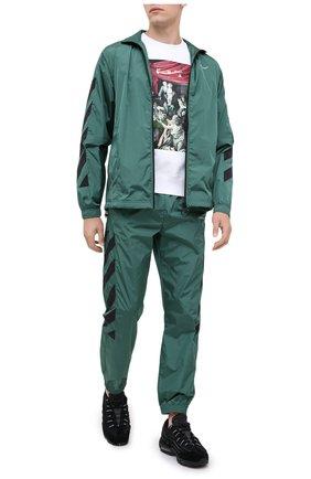Мужской джоггеры OFF-WHITE зеленого цвета, арт. 0MCA086E20FAB0025701 | Фото 2