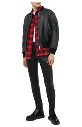 Мужские кожаные ботинки ALEXANDER MCQUEEN черного цвета, арт. 625187/WHX5E | Фото 2