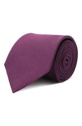 Мужской шелковый галстук BRIONI фиолетового цвета, арт. 061D00/09459 | Фото 1