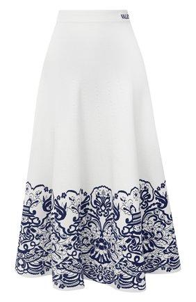 Женская юбка из вискозы VALENTINO белого цвета, арт. UB3KG01M5N1 | Фото 1