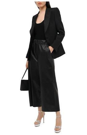 Женские кожаные босоножки metalik GIANVITO ROSSI серебряного цвета, арт. G31856.85RIC.NPSARGE | Фото 2
