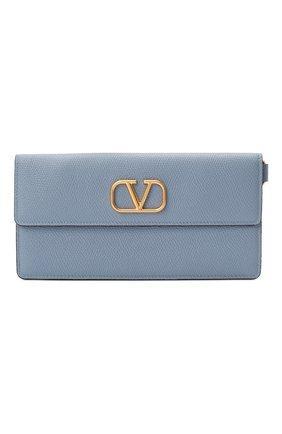 Женские кошелек valentino garavani на цепочке VALENTINO голубого цвета, арт. UW2P0T33/SNP | Фото 1