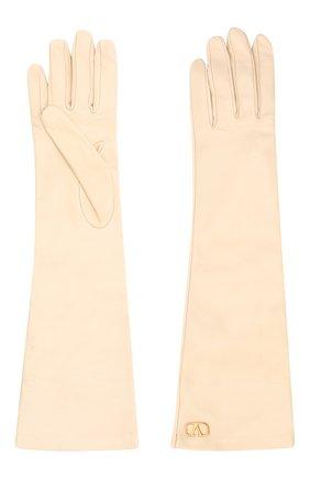 Женские кожаные перчатки VALENTINO белого цвета, арт. UW2GCA14/WJW | Фото 2