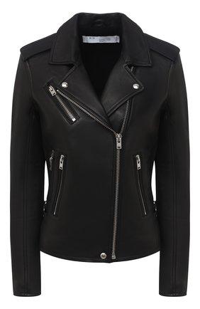 Женская кожаная куртка IRO черного цвета, арт. WP09NEWHAN | Фото 1
