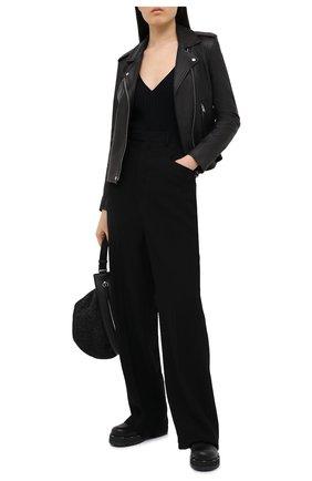 Женская кожаная куртка IRO черного цвета, арт. WP09NEWHAN | Фото 2