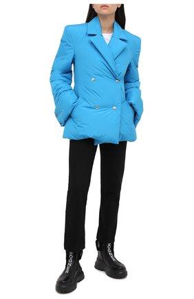 Женский пуховая куртка KHRISJOY бирюзового цвета, арт. BFPW026/NY | Фото 2