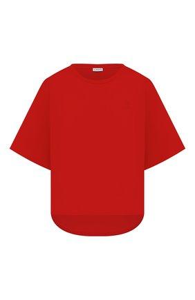 Женская хлопковая футболка LOEWE красного цвета, арт. S359341XA4 | Фото 1