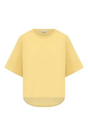 Женская хлопковая футболка LOEWE желтого цвета, арт. S359341XA4 | Фото 1