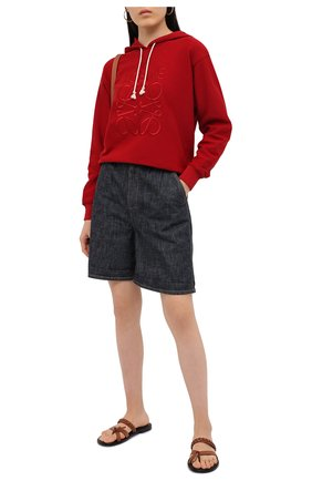 Женский хлопковое худи LOEWE красного цвета, арт. S359341X98 | Фото 2