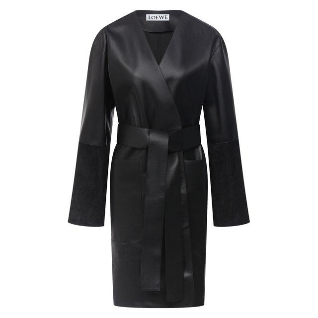 Кожаное пальто Loewe