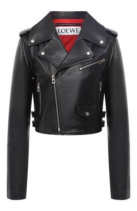 Женская кожаная куртка LOEWE черного цвета, арт. S359330XB4 | Фото 1