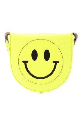 Женская сумка smiley loewe x paula's ibiza LOEWE желтого цвета, арт. C661T14X05   Фото 1