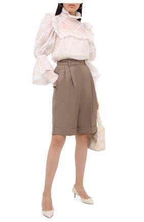 Женская кожаные туфли valentino garavani rockstud VALENTINO кремвого цвета, арт. UW2S0V22/VCE | Фото 2