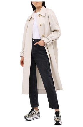 Женские кожаные кроссовки beth PREMIATA бежевого цвета, арт. BETH/VAR4116 | Фото 2