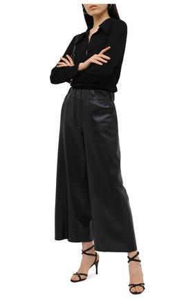 Женские кожаные босоножки valentino garavani rockstud flair VALENTINO черного цвета, арт. UW2S0AE1/MLR   Фото 2