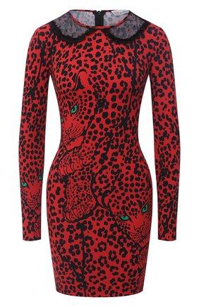 Женское платье из вискозы REDVALENTINO красного цвета, арт. UR3VAR15/57C | Фото 1