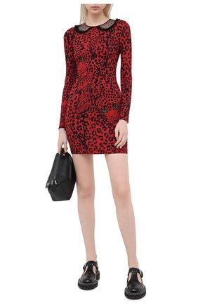 Женское платье из вискозы REDVALENTINO красного цвета, арт. UR3VAR15/57C | Фото 2