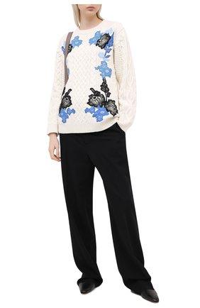 Женская свитер из шерсти и кашемира VALENTINO белого цвета, арт. UB3KCB515QL   Фото 2