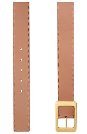 Женский кожаный ремень LORO PIANA коричневого цвета, арт. FAL3387   Фото 2 (Материал: Кожа)