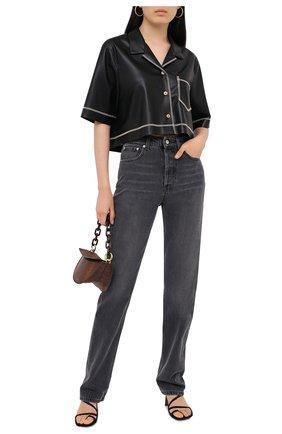 Женские джинсы NANUSHKA серого цвета, арт. CH0_WASHED GREY_RIGID DENIM   Фото 2