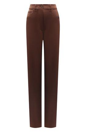 Женские брюки NANUSHKA коричневого цвета, арт. DREW_BR0WN_SLIP SATIN | Фото 1
