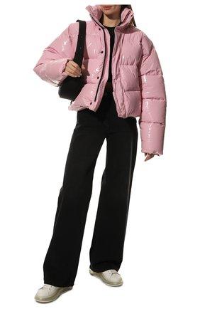Женские кожаные кеды ALEXANDER MCQUEEN белого цвета, арт. 611698/WHX98 | Фото 2 (Материал внутренний: Натуральная кожа; Подошва: Платформа)