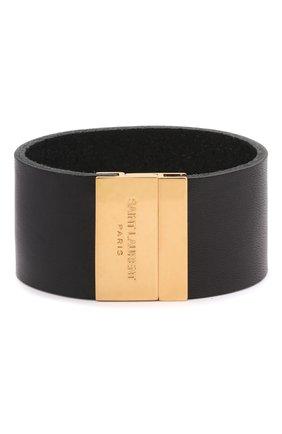 Женский кожаный браслет SAINT LAURENT черного цвета, арт. 542012/0IH0J | Фото 1